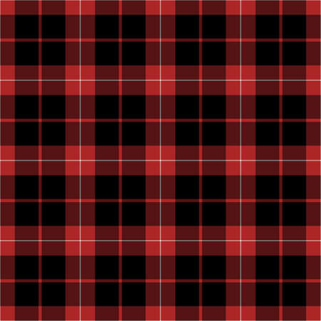 country kitchen: Black, red and white plaid seamless pattern Stock Photo