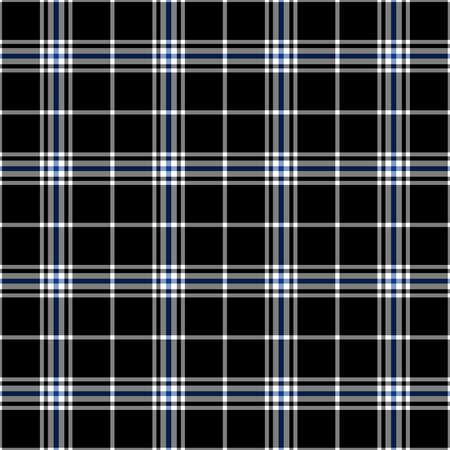 Black, blue and white plaid seamless pattern
