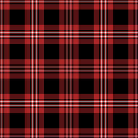 Black, red and white plaid seamless pattern Reklamní fotografie