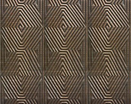 Antique metal pattern with geometric motive