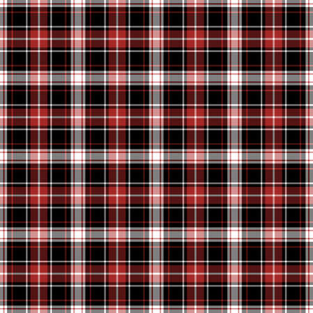 Black, red and white plaid tissue seamless pattern