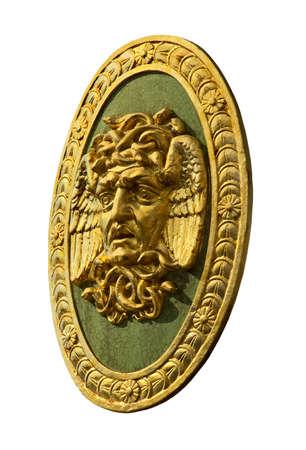 The head of Medusa, the mythical monster of ancient Greek mythology
