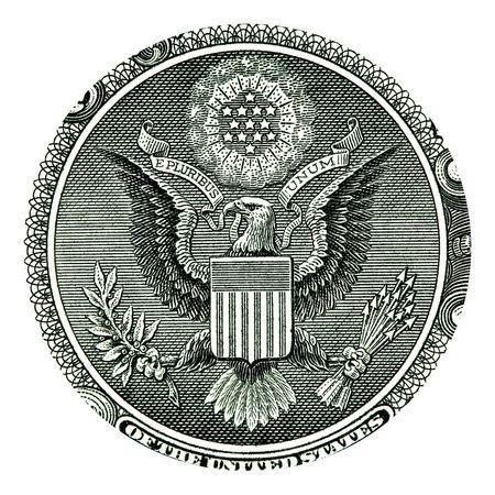 pluribus: E Pluribus Unum Seal on the US One Dollar Bill