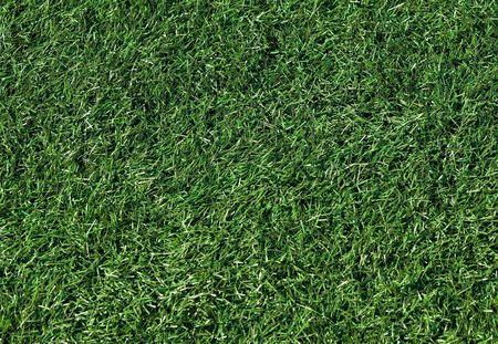 artifical: Artifical grass on a new football field Stock Photo