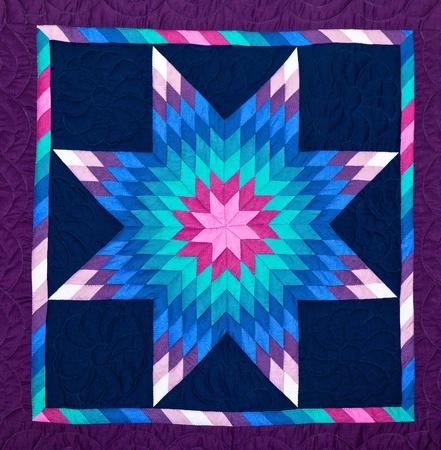 patchwork: Quilt, close-up.
