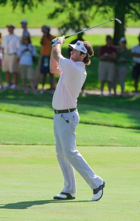 BETHESDA, MD - JUNE 13: Bubba Watson hits a shot at Congressional during the 2011 US Open on June 13, 2011 in Bethesda, MD. Editorial