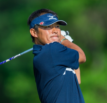 ARDMORE, PA  - June 12:  Yui Ueda hits a drive at the 2013 US Open at Merion  on June 12, 2013 in Ardmore, PA.