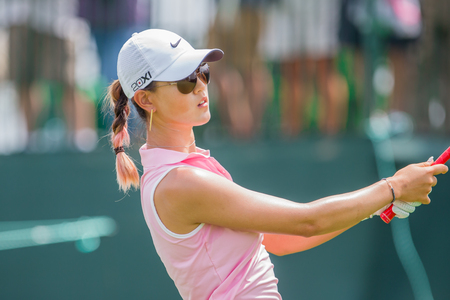 us open: Michelle Wie hits a shot at the 2013 US Open