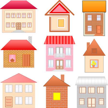 ensemble de maisons croquis