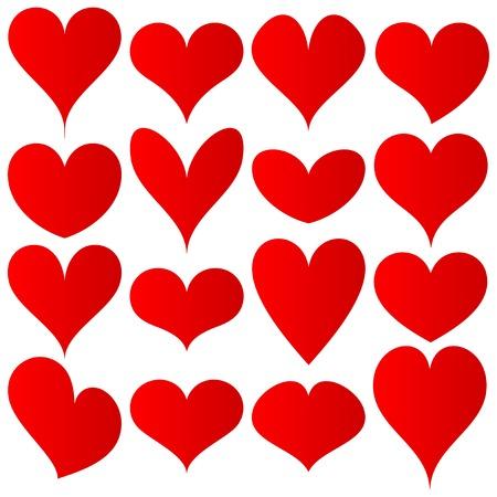 rode harten instellen voor bruiloft en valentine ontwerp
