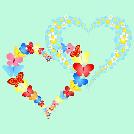 Valentine symbolische Herzen
