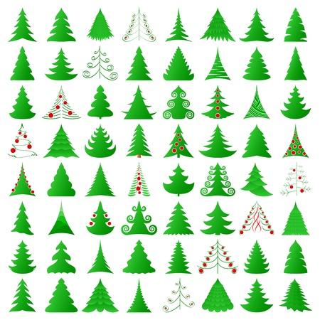 elegante colección de árboles de Navidad