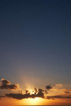 Barbados sky during sunset