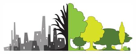 Environmental degradation Illustration