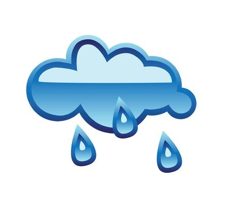 Weer glas-knop regen op wit wordt geïsoleerd