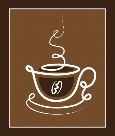 Stylish cup of coffee Stock Vector - 14254074