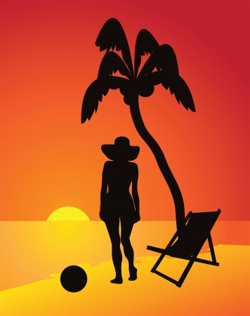 Vacation beside the sea - vector Stock Vector - 14396758