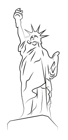 Statue of Liberty drawing isolated on white Stock Vector - 14728852