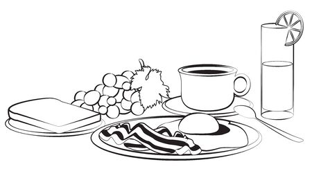 Breakfast composition isolated on white Stock Vector - 17584690