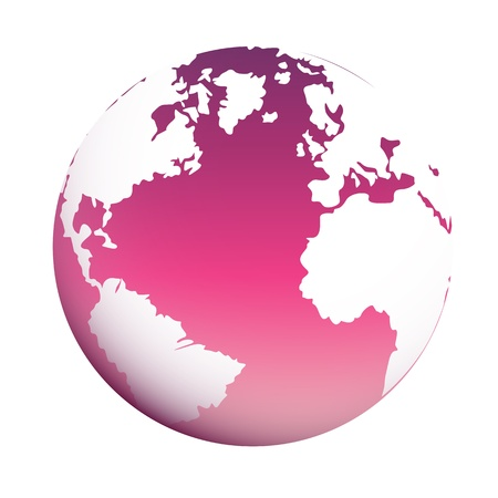 glob: Glob Icon isolated on white