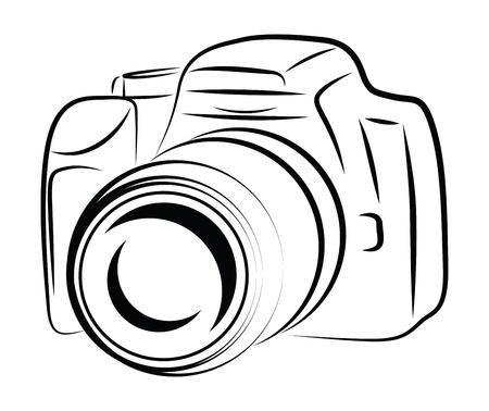 Contour Camera Drawing Reklamní fotografie - 18543612