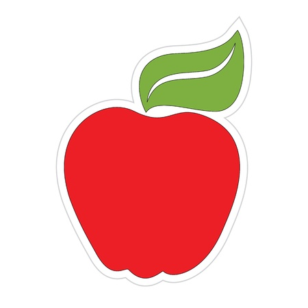 Cartoon Apple Sticker