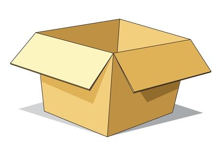 Cartoon kartonnen doos