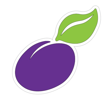 Cartoon Plum Sticker