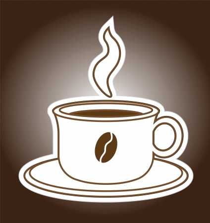 Hot Fresh Coffee Cup Sticker