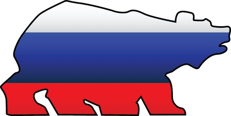 russian flag: Russian flag and symbol composition