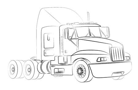 Truck isolato su bianco Archivio Fotografico - 20085701