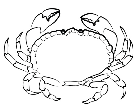 crab meat: Crab silhouette isolated on white