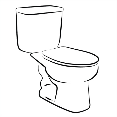 Watercloset smiplified sketch Vector