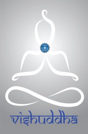 Symbolic yogi with Vishuddha chakra representation Stock Vector - 20085731