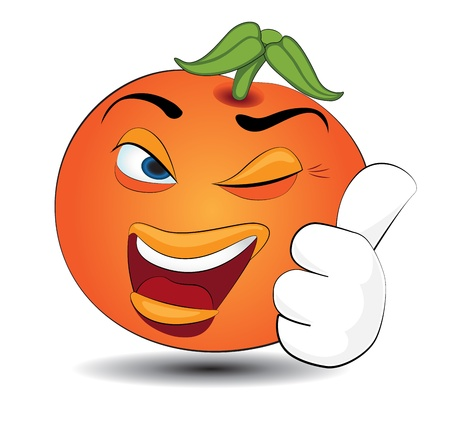 Cartoon orange Stock Vector - 21214355