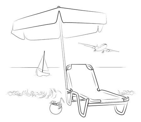 to sunbathe: Vacation beside the Sea