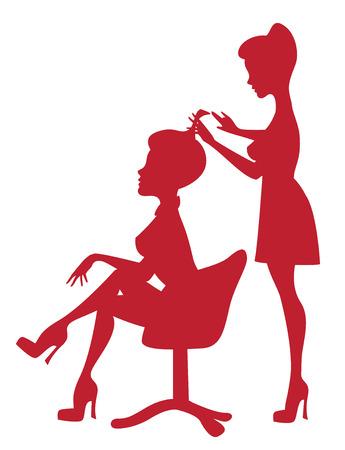 Bij de kapper Stock Illustratie