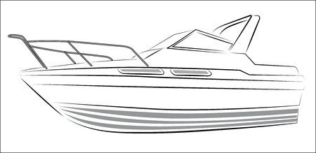 Yacht Contour Silhouette