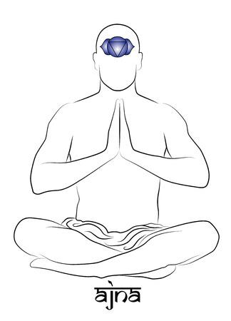 Ajna yoga chakra Stock Vector - 25634971
