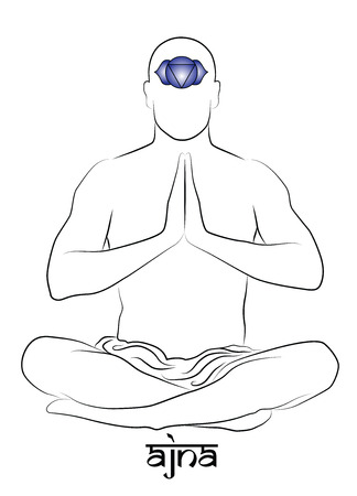 ajna: Ajna yoga chakra Illustration