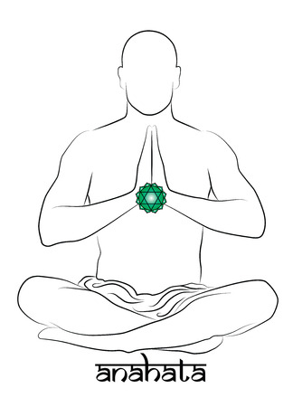 Anahata yoga chakra Stock Vector - 25634973