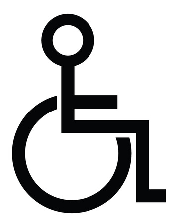 disabled parking sign: Disabled Person Symbolic Represantation Illustration