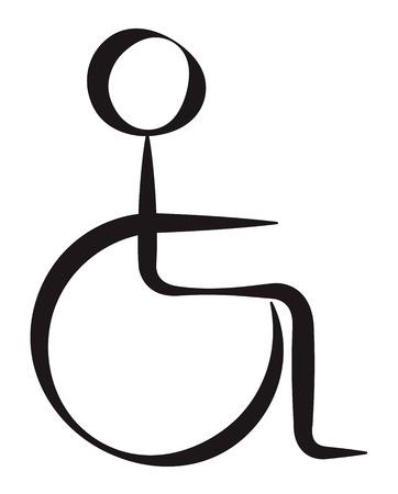Disabled Person Symbolic Represantation Illustration