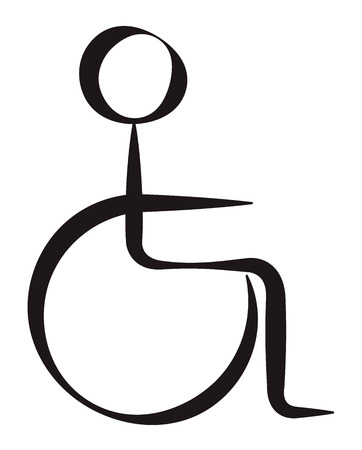 Disabled Person Symbolic Represantation Illustration