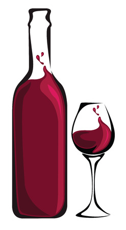 symbolics: Red Wine Bottle and Glass