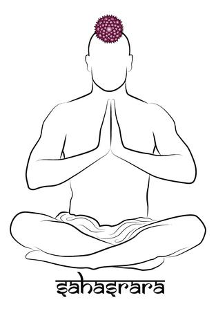 sahasrara: Sahasrara yoga chakra Illustration