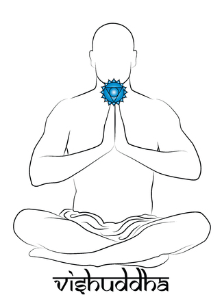 chakra awareness: Vishuddha chakra Illustration