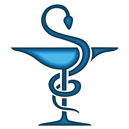 Caduceus Medical Symbol Emblem For Drugstore Or Medicine Medical