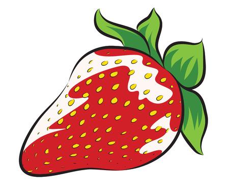新鮮なイチゴを白で隔離