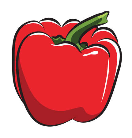 Red Pepper isolated on white Illustration